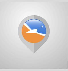 Map navigation pointer with tierra del fuego vector