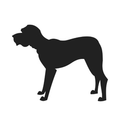 Mastiff Black Silhouette vector