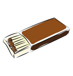matchbox drawing on white background vector image