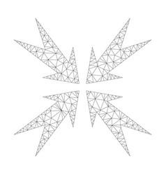 mesh compression arrows icon vector image