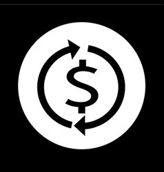 money dollar sign icon design vector image