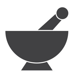 Mortar pestle icon vector