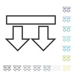 Move arrows down icon vector