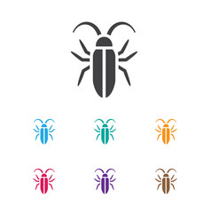 Of animal symbol on insect vector