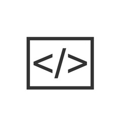 Open source business icon in flat style api vector