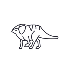 parasaurolophus line icon sign vector image