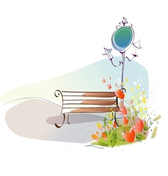 Park Sketch Background vector image