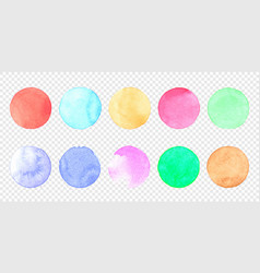pastel watercolor circle set color smear of vector image