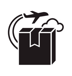 plane delivery box icon simple style vector image