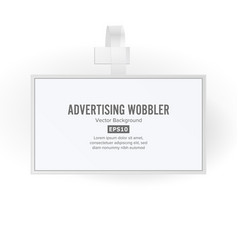 Plastic advertising wobbler papper price vector