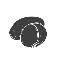 Potatoes glyph icon vector
