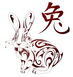 Rabbit as symbol for Chinese zodiac vector