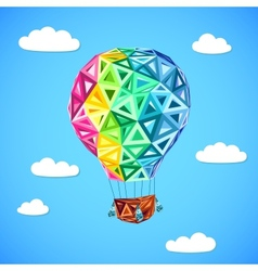 Rainbow colors abstract triangles flying balloon vector image vector image