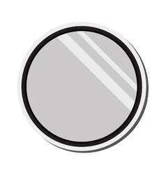 round mirror icon vector image