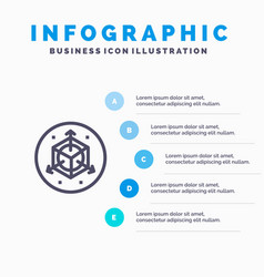 Scale modification design 3d blue infographics vector