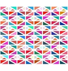 Seamless colorful geometric blocks vector
