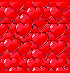 seamless pattern of red balloons in the shape of vector image