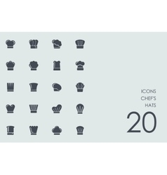 Set of chefs hats icons vector