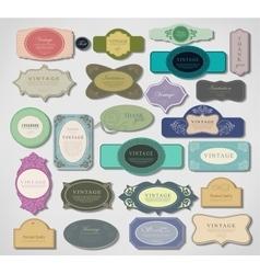 Set vintage labels vector