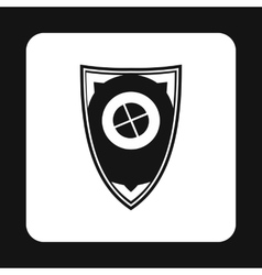Shield for war icon simple style vector