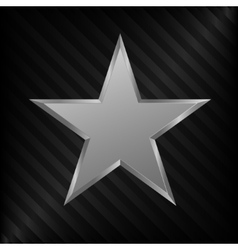 Silver star symbol vector