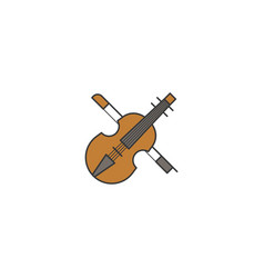 simple violin icon filled outline vector image