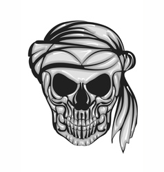 skull with bandana vector image