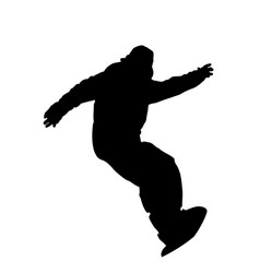 snowboarder descents the slope silhouette vector image