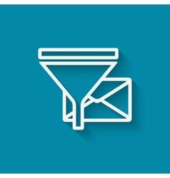spam filter concept symbol vector image