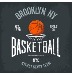 Streetball or urban sport team logo and banner vector