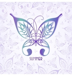 summer background made vector image