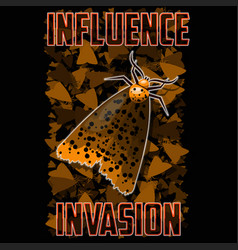 t-shirt or poster moth vector image