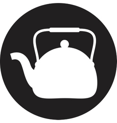 Tea maker Kitchen Icon vector image