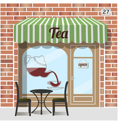 tea shop facade vector image