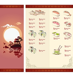 template design sushi menu vector image