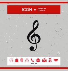 treble clef icon vector image