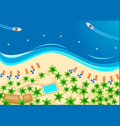 Tropical beach poster for summer vacation design vector