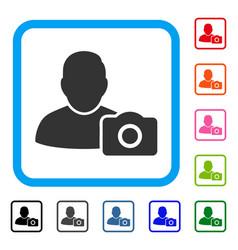User photo framed icon vector
