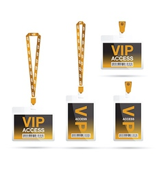 Vip access lanyards vector