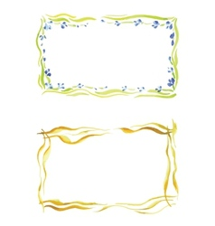 Watercolor frame in different styles vector