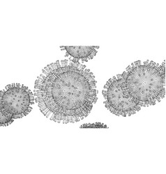 wire-frame model a virus vector image