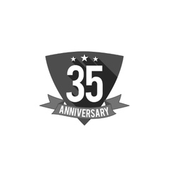 35 years Anniversary badge sign and emblem Flat vector image