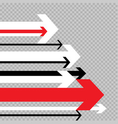 arrows move to success transparent vector image vector image