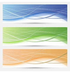 Banners collection - lines and swooshes vector image vector image