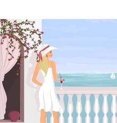mediterranean vacation vector image vector image