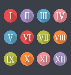 roman numerals icon set vector image vector image