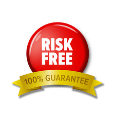 round red button with words risk free vector image vector image
