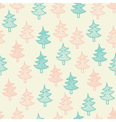 Seamless texture with Christmas trees vector image