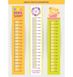 stadiometer for children vector image