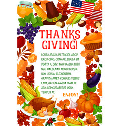 thanksgiving day autumn holiday greeting banner vector image vector image
